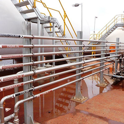 Multiple Lubricating Oil And Coolant Lines At Bulk Terminal