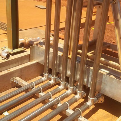 Pipework In Large Mining Facility
