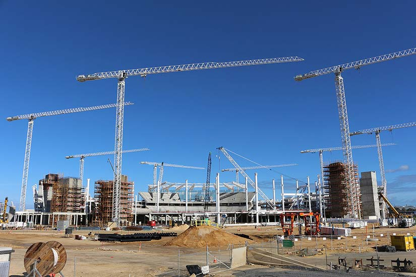 Perth Stadium under construction in May 2016